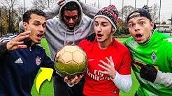 GOLDENER BALL VS NORMALER BALL FUßBALL CHALLENGE! *EXKLUSIV*