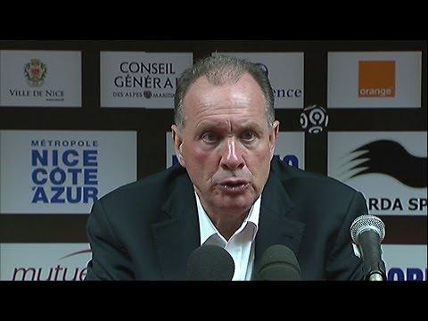 Conférence de presse OGC Nice - AS Nancy Lorraine (2-1) / 2012-13