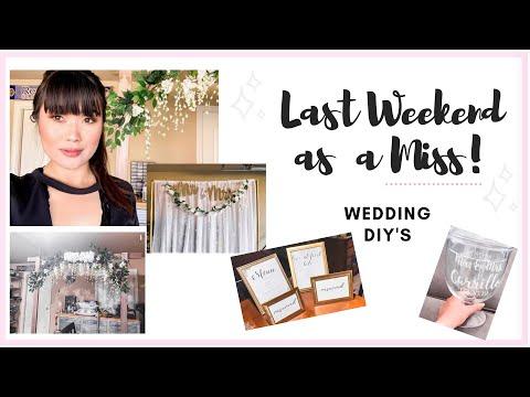 VLOG / LAST WEEKEND BEFORE MY WEDDING! 😲🥰👰🏻 SEE MY DIY WEDDING ARBOR, PHOTO-BACK DROP + SIGNS!!