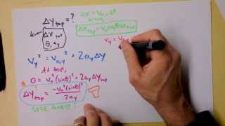 NO initial speed given! | Projęctile Motion Worked Example Class 3 Problem | Doc Physics
