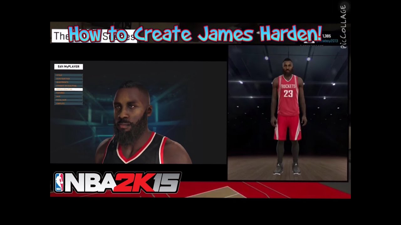 d8c491ea12a8 How to Create James Harden in NBA 2k15