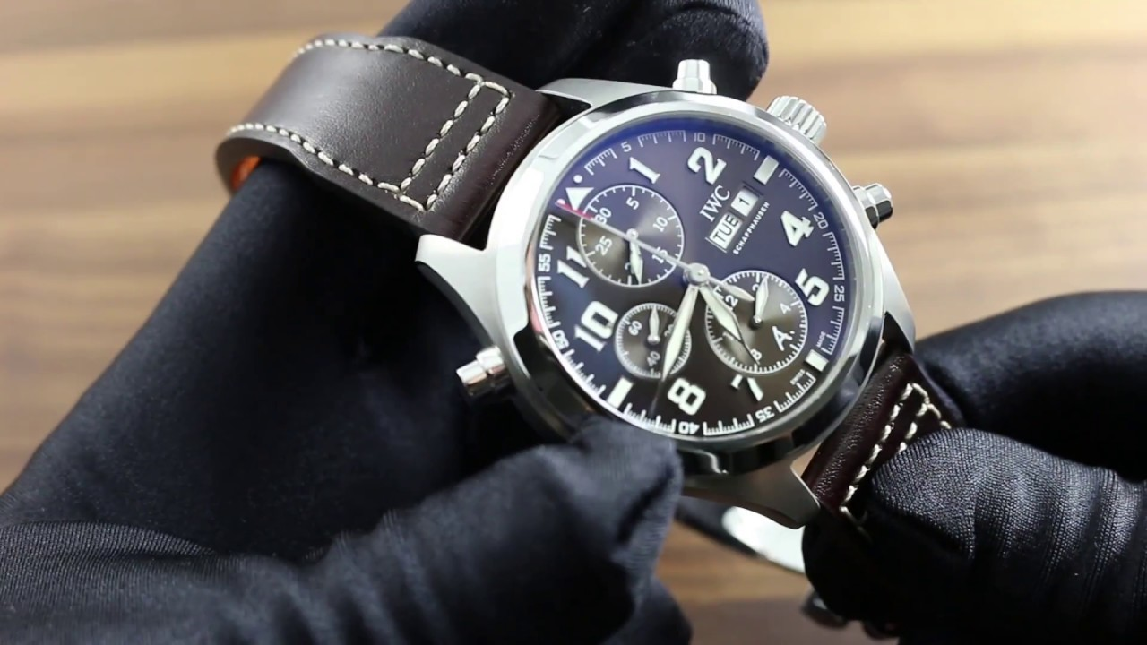 iwc schaffhausen pilot 39 s watch double chronograph edition. Black Bedroom Furniture Sets. Home Design Ideas