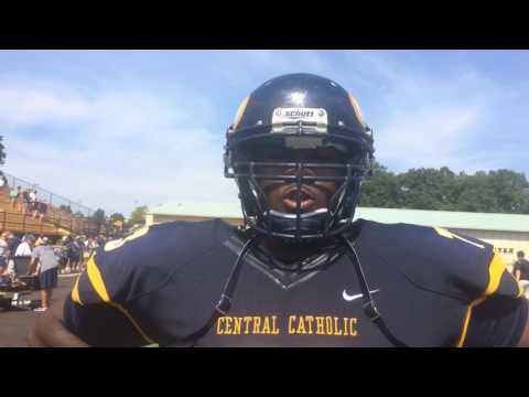 Penn State commit C.J. Thorpe talks after Central Catholic loss