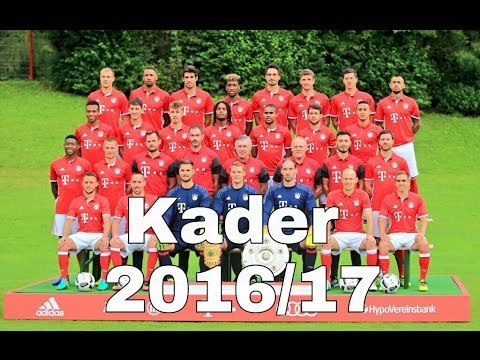 fc bayern m nchen kader saison 2016 17 youtube. Black Bedroom Furniture Sets. Home Design Ideas
