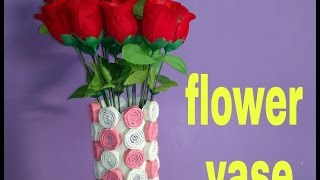 HOW TO MAKE FLOWER VASE WITH PAPER