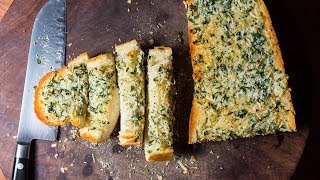 Garlic bread doesn't get much easier than this. ▽ INGREDIENTS: 1/2 cup butter (1 stick) room temperature 1/4 cup Italian Parsley (the flat kind) chopped 2 big ...