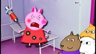 Мультики Свинка  Петта боится уколов  Петта в школе Мультфильмы для детей на русском