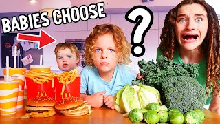 BABIES CHOOSE OUR FOOD FOR 24hrs w/The Norris Nuts
