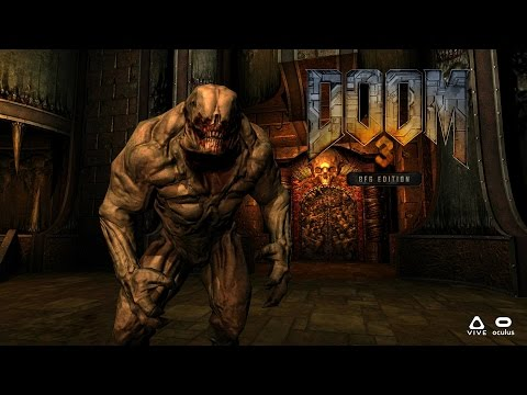 DOOM 3 BFG In Virtual Reality - RBDOOM-3-BFG 1.1.0 openvr 4 - Oculus Rift CV1 - GamePlay