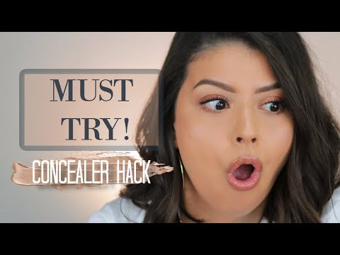 THE BEST CONCEALER HACK I'VE EVER TRIED!!! | HOW TO MAKE YOUR UNDER EYES LOOK FLAWLESS ALL DAY! - YouTube
