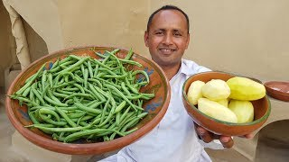 Nutritious Green Beans Potato Recipe | Aloo Beans Recipe | Mubashir Saddique | Village Food Secrets