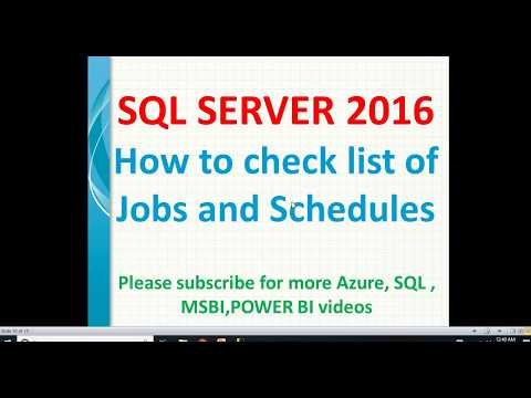 Check list of Jobs and Schedules in SQL Server | Get list of jobs in sql | SQL Job enabled/disabled