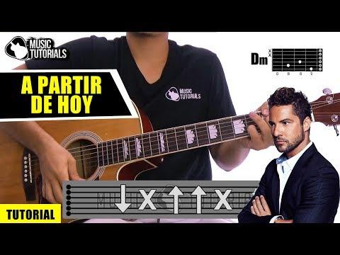 Cómo tocar A Partir de Hoy de David Bisbal, Sebastian Yatra en Guitarra | Tutorial + PDF GRATIS
