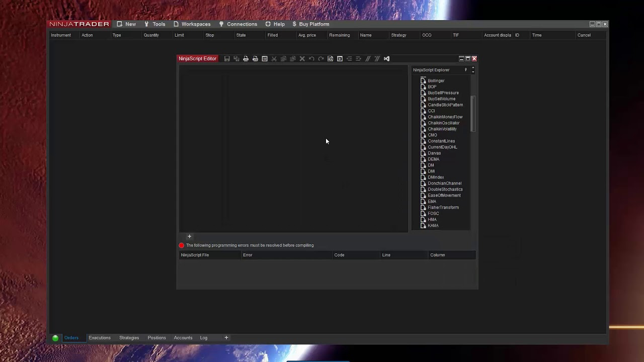 How to import NinjaTrader 8 Add-On if you have programming errors in  NinjaScript files