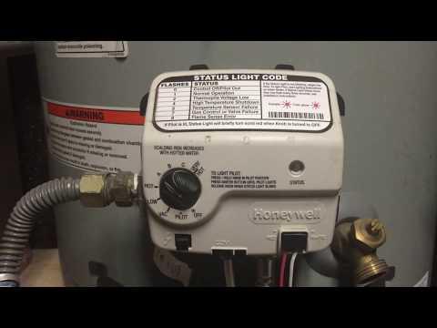 Water Heater pilot light keeps going out - Honeywell controller problems
