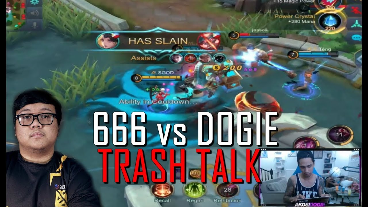 DOGIE vs 666 ANON TRASH TALK - MOBILE LEGENDS - 1000 DIAMONDS GIVEAWAY - RANK - LUNOX - GAMEPLAY
