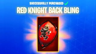 How To Get Red Knights Backbling Shield Backpack! *NEW* Fortnite Red Knight Skin Back bling GLITCH!