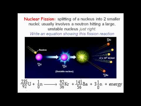 Nuclear Chemistry Lesson 2   Fusion and Fission