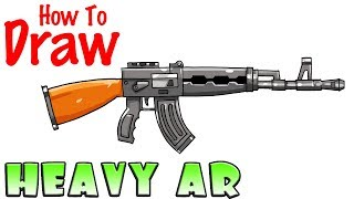 How to Draw the Heavy AR | Fortnite