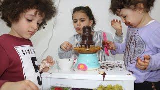 نافورة الشوكلاتة🍫 | ييجي او ما ييجي | chocolate fountains