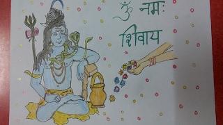 Lord Shiva, Om Namah Shivay , Mahashivratri special drawing for kids