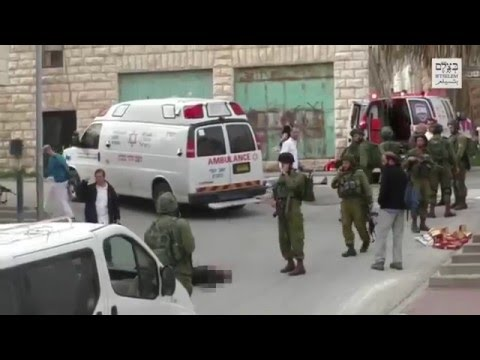 Soldier shoots, kills Palestinian attacker lying on the ground, Hebron  Credit: B'Tselem