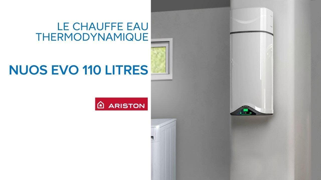 chauffe eau thermodynamique nuos evo 110 litres ariston castorama youtube