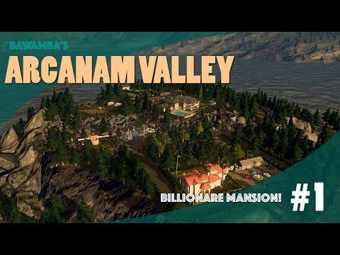 BILLIONAIRE MANSION! - Cities Skylines: Arcanam Valley - Part 1