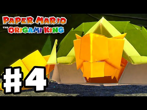 Earth Vellumental Temple Boss Fight! – Paper Mario: The Origami King – Gameplay Walkthrough Part 4