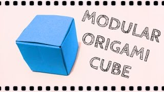 How to make: Origami Cube 3D (6 unit)