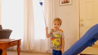 Pretend play with Alekman family and his funny Magic toy stick 2019 June