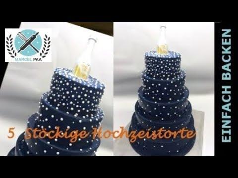 5 Stockige Moderne Hochzeits Torte I Modern Wedding Cake Youtube