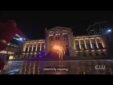 The Flash [5x9] Oliver, Barry, Supergirl, Superman Vs Amazo