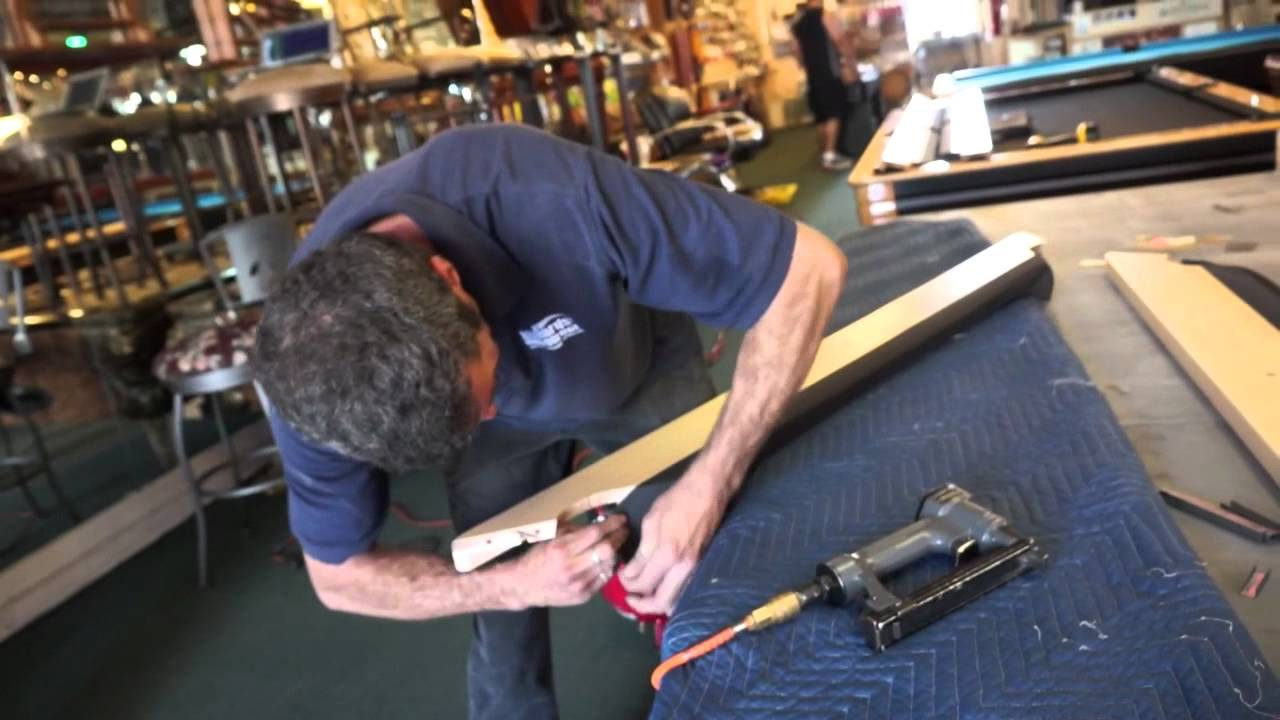 Pool Table Installation: Step 4   The Rails   YouTube