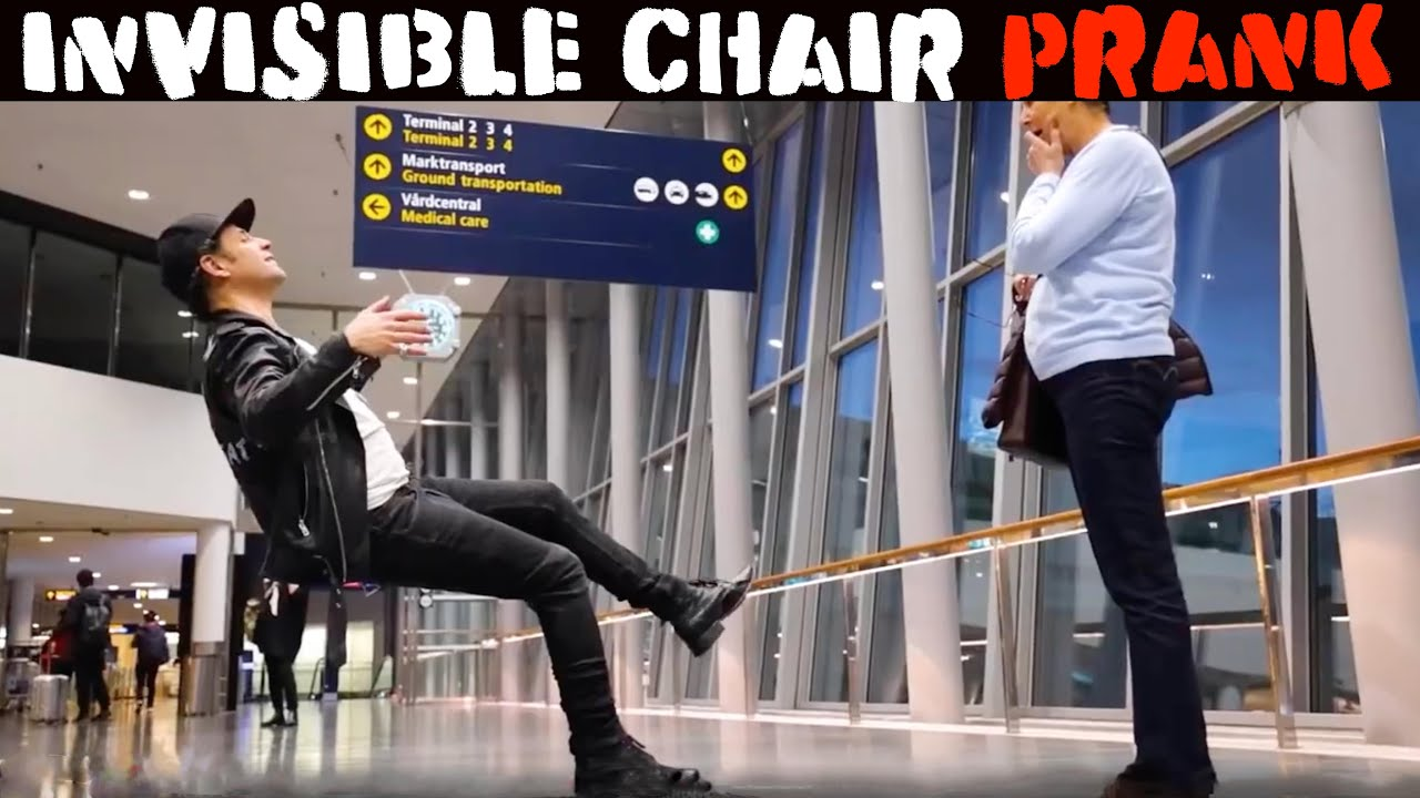 Download BEST OF  INVISIBLE CHAIR PRANK🔥🔥🔥 -Julien Magic
