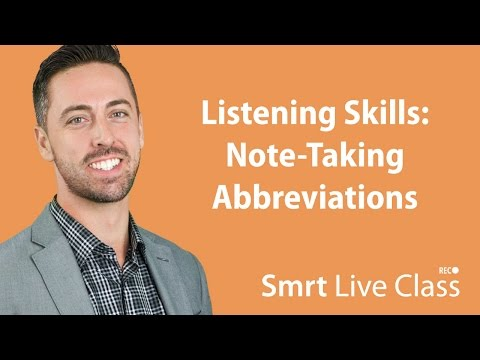 Note-Taking Abbreviations  - English for Academic Purposes with Josh #6
