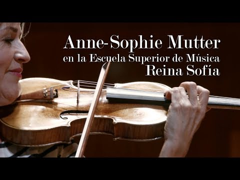 Anne-Sophie Mutter at the Reina Sofía School of Music