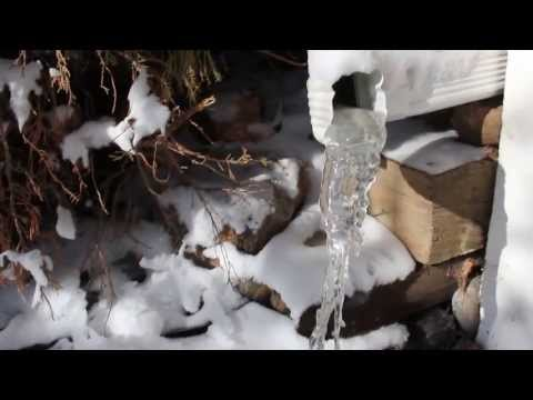 Downspout Ice And Snow In May