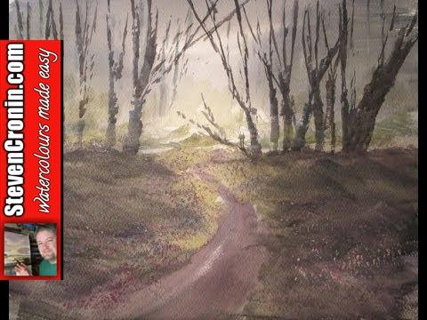 Watercolour painting lesson featuring Ashridge Woods