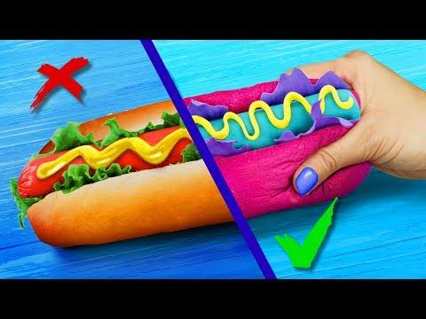 Сквиши против реальной еды! Челлендж – 8 идей