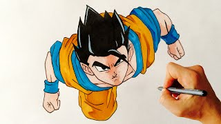 GOHAN ✎ DRAGON BALL Z ✎ HOW TO DRAW