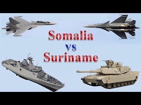 Somalia vs Suriname Military Comparison 2017