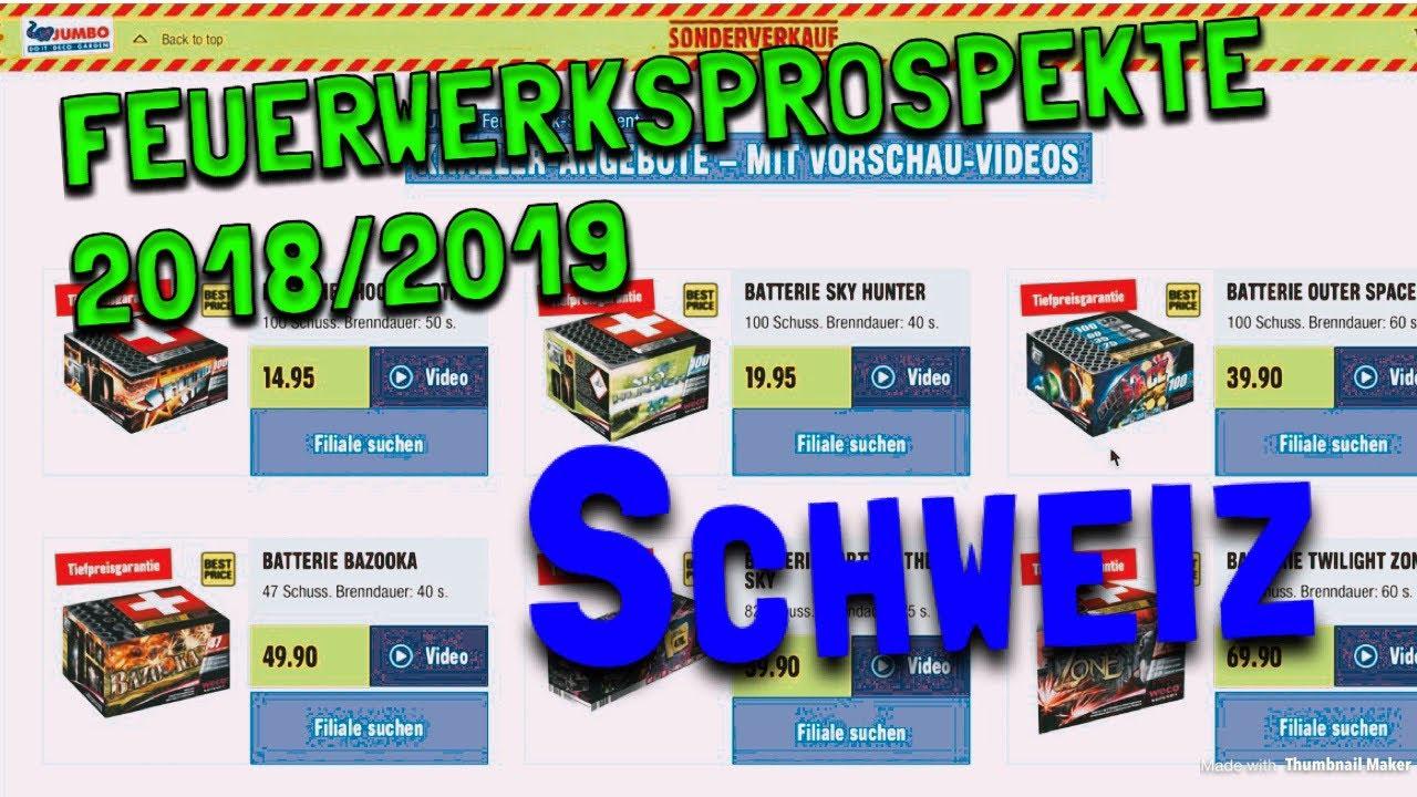 Feuerwerksprospekte Schweiz Jumbo Migros Lucifer Firework