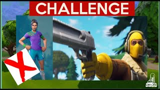 Eliminating Female Skins ONLY! Fortnite Challenge!