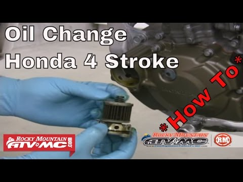 how to change oil on a honda 4 stroke motorcycle youtube