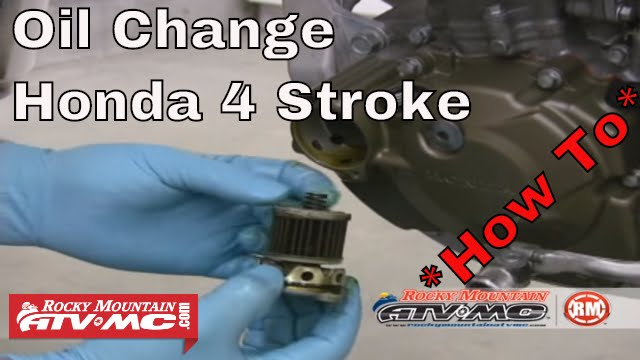 how to change oil on a honda 4 stroke motorcycle - youtube