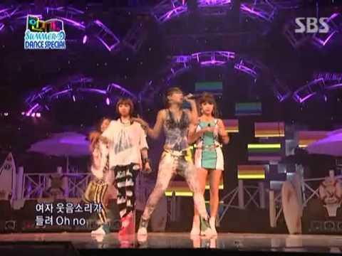 2NE1 - I don't care Remix ver @ SBS Inkigayo 인기가요 090802