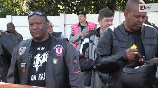 Motorcyclists gathered at the Nelson Mandela Foundation in Houghton to ride to the Union Buildings in Pretoria to release balloons in honour of former president Nelson Mandela. EWN's Aki Anastasiou was there.