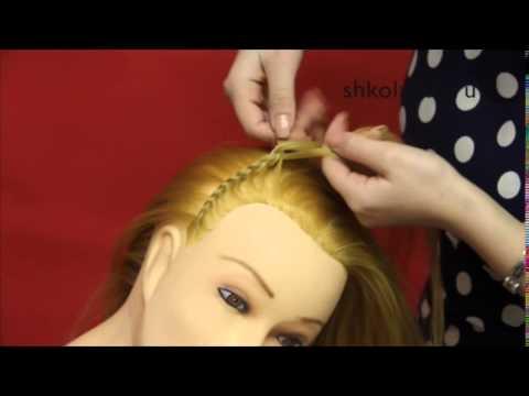 Прическа для девочек в школу ободок из косы