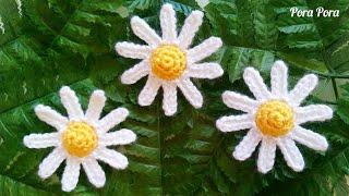 How to crochet Chamomile flower I Easy crochet flower tutorial for beginners